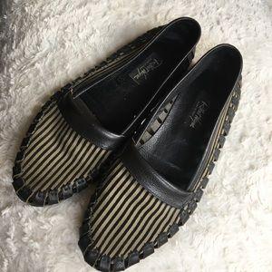 Leather striped men's loafer